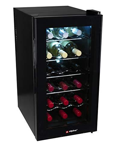 alpina 8711252185125 Refroidisseur à vin 60 W 50 l 18 bouteilles, métal, 50 l