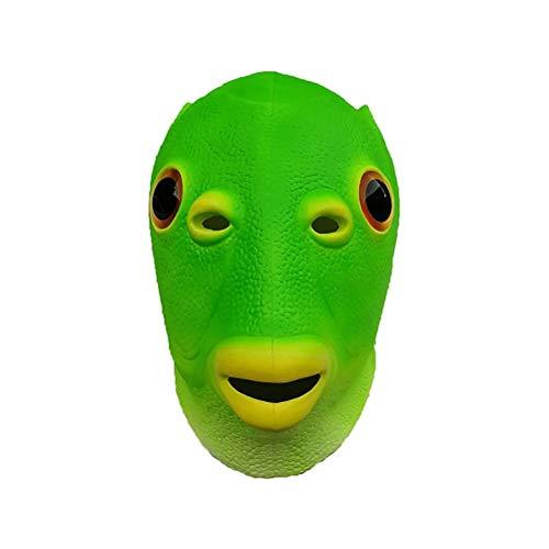 spier Funny Cute Fish - Sombrero para disfraz de pez verde, ltex para cosplay, animal, accesorio para fiestas y cosplay