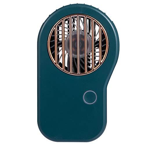 LIAWEI Ventilador de luz LED recargable por USB, 3 velocidades de viento ajustables con cuerda de collar para llevar actividades al aire libre, pequeño ventilador portátil personal