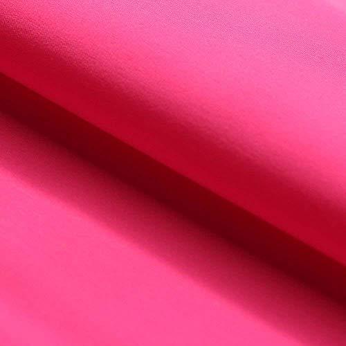 4-Way Stretch Nylon Spandex Matte Tricot   Suitable for Sportswear, Activewear, Swimwear, Dancewear, Yoga Wear, Table Cloth (Neon Pink)