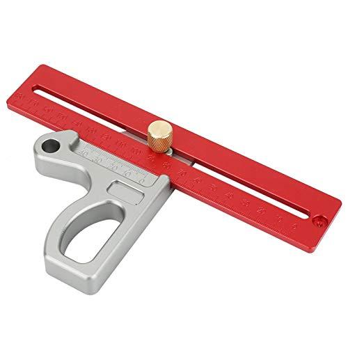 Calibre de escritura 45/90 grados, regla de ángulo de carpintería de 45/90 grados, herramienta de mano de pequeño volumen para trabajar la madera para la industria