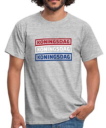 Spreadshirt Koningsdag Holland Vlag Mannen T-shirt