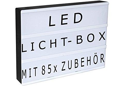 LED Leuchtkasten inkl.Buchstaben/Symbole Batteriebetrieb Deko Lampe Lightbox