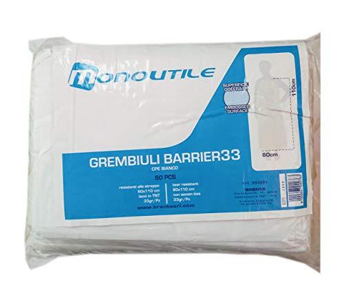 50 schorten, wit, 110 x 80, oppervlak groffata, scheurvast, horeca, 33 g/m2