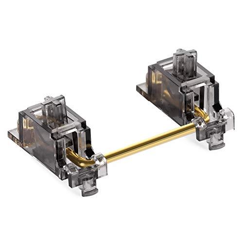 DUROCK V2 PCB Mount Screw-in Stabilizers Translucent Smokey Gold Plated 2u 6.25u 7u Keycap Stabilizers Mechanical Keyboard Stabilizers (V2 Smokey 60/87 Kit)