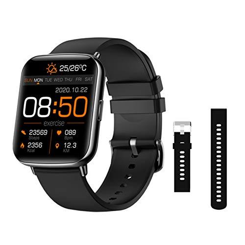ZYDZ Hombres y Mujeres SmartWatchx27 Fitness Tracker Deportes Pulsera Soporte IP68 Reloj Inteligente a Prueba de Agua a Prueba de Agua, Adecuado para iOS Android,D