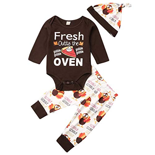 Newborn Infant Baby Boy Girl Thanksgiving Outfits...
