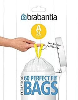 Brabantia Bin Liners, Size A, 3 L - 60 Bags (B00026LJMU) | Amazon price tracker / tracking, Amazon price history charts, Amazon price watches, Amazon price drop alerts