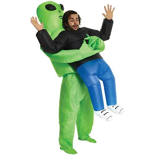 Morph Aufblasbares Alien Kostüm für Erwachsene, lustige Halloween Verkleidung für Damen Herren - Einheitsgröße