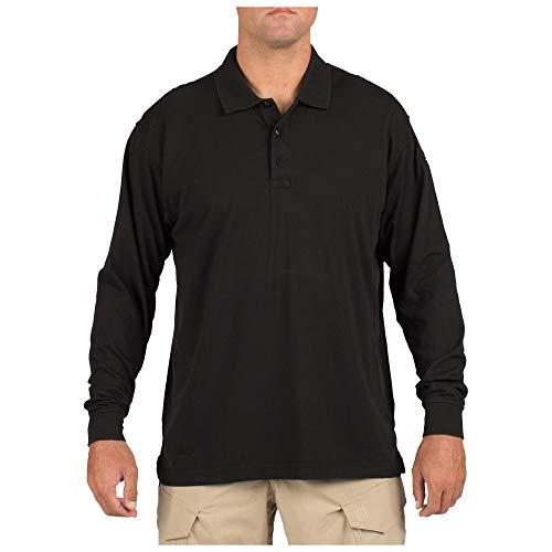 5.11 Tactical #72360 Tactical Polo Long Sleeve Tshirt (Black, Large)