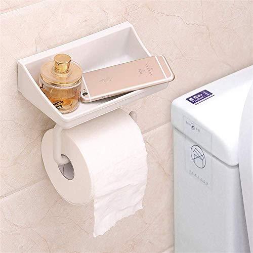 ETDWA Soporte de Papel higiénico Autoadhesivo con Estante S