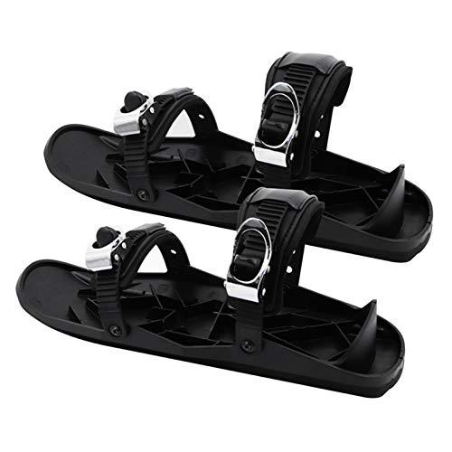 QHGao Mini Ski Skates, Verstellbare Skischuhe Wintersportausrüstung Für Männer, Frauen, Erwachsene, Freestyle Snowboard, Aviation Aluminiumlegierung Metallschnalle