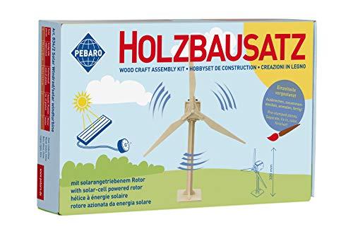 Pebaro 834/2 Solar Holzbausatz 3D Puzzle Windrad