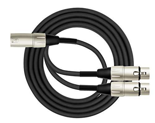 Kirlin Cable Y-301-06 - 6 Feet - XLR Male to Dual XLR Female Y-Cable