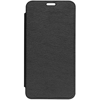 GSMOBILE Synthetic Leather Normal Flip Cover for Micromax Canvas Nitro A310/A311(Black)