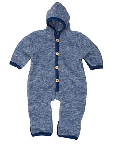 Cosilana, NEU Baby Fleece Overall mit Umschlag, 60% Schurwolle (kbT), 40% Baumwolle (KBA) (74/80, Marine-Melange)