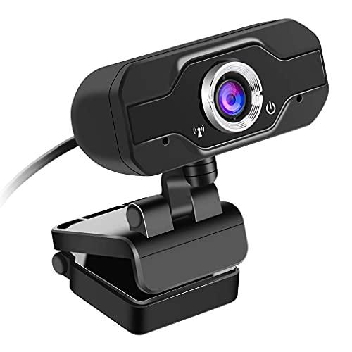 ROM Cámara Web 720P Cámara para PC con micrófono Cámara Web USB de transmisión Completa para videollamadas y grabación Pequeño/Flexible/Ajustable, Compatible con Windows,