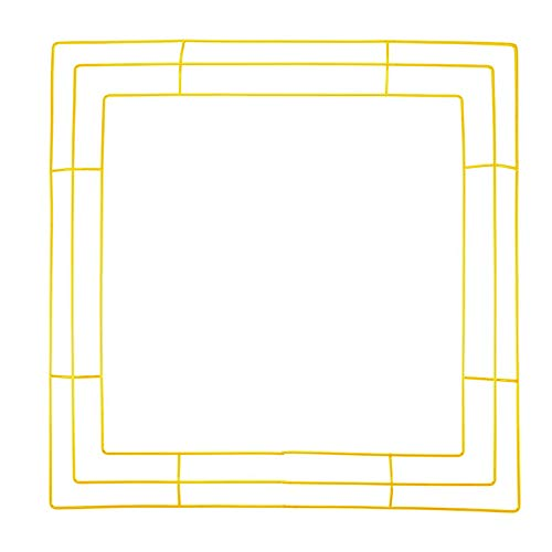 Wyi 4-Pack 10 Inch Metal Wire Wreath Frames Gold Square Wreath Forms DIY Wreath Making Rings for Christmas New Years Party Wedding Decoration
