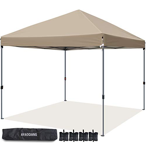 AYAOQIANG Pop Up Gazebo 3x3m Gazebos for Gardens Party Commercial Tent with Carry Bag and 4 Leg Weight Bags