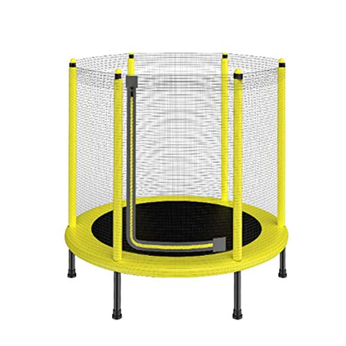 HSART Mini Trampoline for Kids with Handle,Foldable Kids Trampoline Sturdy Frame, Safety Padded Cover Exercise Indoor or Outdoor Safety, Portable Three sizes to choose Yellow,Diameter 1.2m