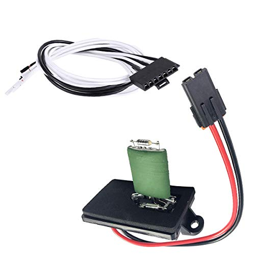 22807122 HVAC Blower Motor Fan Resistor w/Wire Harness Replacement for 1999-2007 Cadillac Escalade, Chevy Avalanche, Silverado, Tahoe, GMC Sierra, Yukon, XL w/Manual Air, Replace# 15305077, 973-409