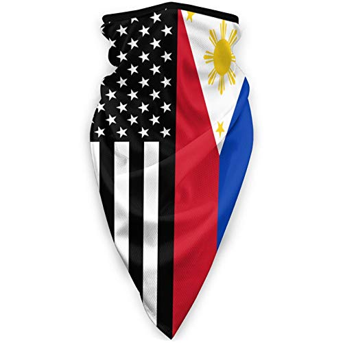 USA Philippines Flag Face Mask Neck Gaiters...