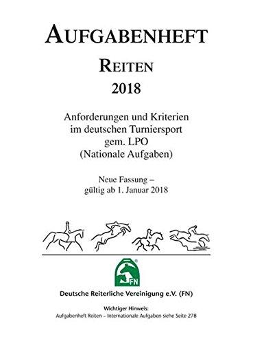 Aufgabenheft 2018 Reiten Nationale Aufgaben - NUR Inhalt (Regelwerke)