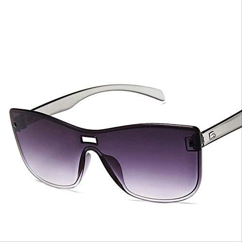 XJJSZJ Gafas de Sol Gafas de Sol Cat Eye Gafas de Sol para Mujer Gafas de Sol para Mujer Sombras para Mujer Gafas UV400 Sin Montura Plástico Adultos Doble Ceniza