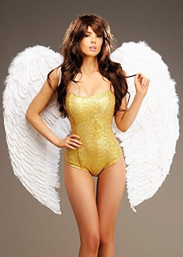 Magic Box Alas de ángel de Plumas Blancas extragrandes
