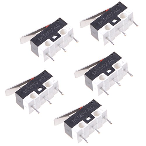 UKCOCO 5 stücke Micro Endschalter Wasserdicht Momentanen Druckschalter 3 Pins Lange Scharnier Hebel Mikroschalter