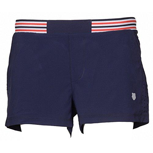K-Swiss - Tennis-Shorts für Damen in dunkelblau, Größe L