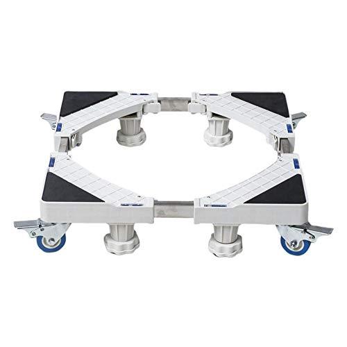 Base universal para lavadora móvil con ruedas - Soporte para refrigerador con ruedas, Bandeja de base de acero inoxidable antideslizante reforzada para refrigerador Congelador Lavadora Secadora
