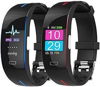 JBC Pulsera inteligente impermeable IP67 con electrodo fotoeléctrico PPG + ECG, monitor de sueño en tiempo real, contador de calorías, reloj para niños, mujeres y hombres