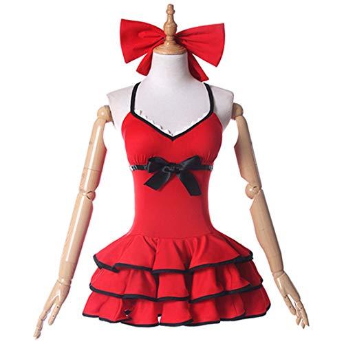 YKJ Traje de bao Rojo Traje de Traje de bao Rojo Traje de Cosplay de Anime Personaje Anime Ropa Ropa Conjunto Completo,Full Set-XL