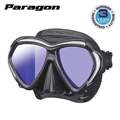 TUSA M-2001 Paragon Scuba Diving Mask, Black/Black