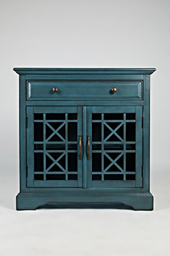 "Jofran: 175-32, Craftsman, Accent Chest, 32"" W X 15"" D X 32"" H, Antique Blue Finish, (Set of 1)"