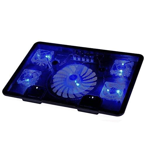 SKTE Enfriador Para Computadora Portátil Con 5 Ventiladores USB Base De Almohadilla De Enfriamiento Enfriador LED Para Computadora Portátil Con Ventilador De Luz Soporte Antideslizante Para Computador