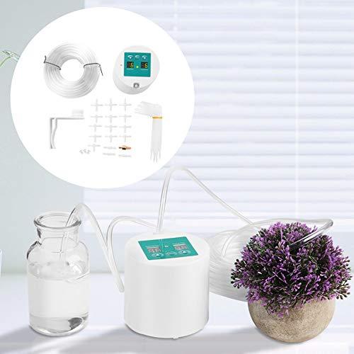 Duokon Micro Kit d'irrigation Automatique pour Jardin Goutte à Goutte Système de minuterie Système d'arrosage Automatique Kit de Balcon Bureau pour Fleurs Plantes Bonsaï Fruits en Pot