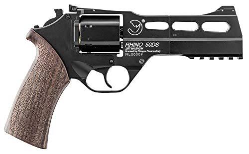 357 magnum Réplique Airsoft 0,5 Joules Revolver à CO2 Chiappa Rhino Noir (Vente Interdite aux Personnes âgées de Moins de 18 Ans)