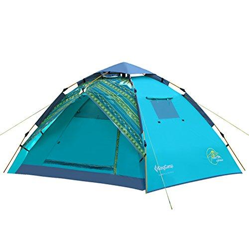 KingCamp(キングキャンプ) テント ドーム型 キャンプテント ワンタッチ アウトドア 3~4人用