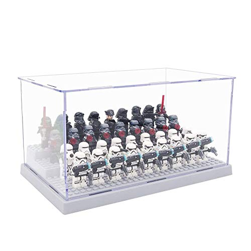 Tingacraft Acryl Vitrine 240 x 140 x 120 mm für Minifigur (Grau), Selbstmontage