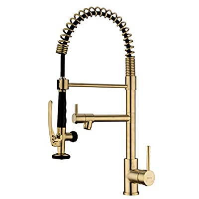 EKRTE Heavy Duty Commercial Pull Down Kitchen Faucet