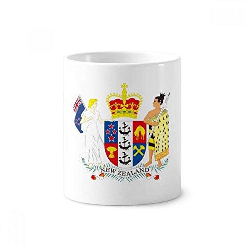 DIYthinker Das nationale Emblem von Neuseeland Keramik Zahnbürste Stifthalter Tasse Weiß Cup 350ml Geschenk 9.6cm x 8.2cm hoch Durchmesser