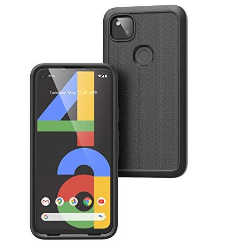 Catalyst Made for Google Pixel 4a Estuche con Respaldo Transparente, Resistente a Prueba de caídas de 3m, Polymnetric Grip, Micro SD y Ranuras para Quitar Herramientas, cordón Incluido - Negro ✅