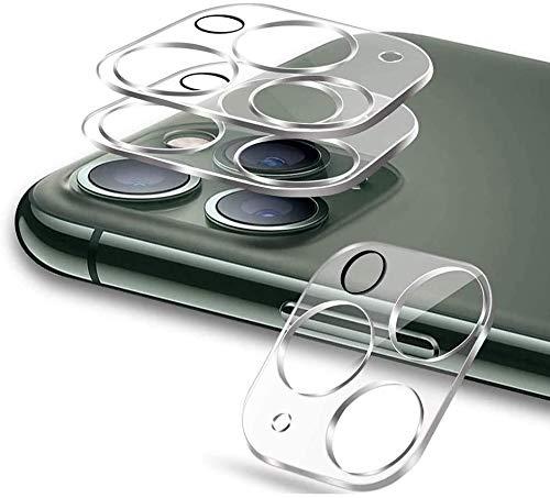 GSY Lot de 3 protecteurs d'objectif d'appareil photo pour iPhone 12 Pro Max- Ultra transparents - En verre trempé - Protection complète contre les rayures