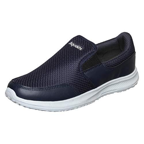 Aqualite Men's D.Grey/S.Blu Running Shoes-6 UK/India (40 EU)(Aqua_MAX-101D.Grey/S.Blu06)
