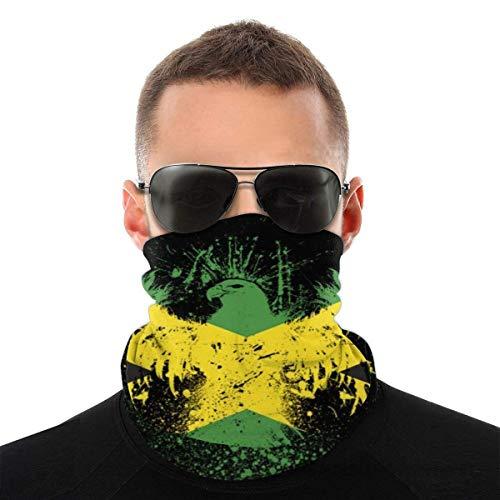 Nother Máscara de verano con bandera de Jamaica, protección contra el polvo, sol, protección UV, polaina para el cuello, para correr, senderismo, motociclismo y ciclismo, color blanco y negro