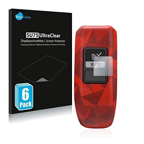 Savvies 6X Schutzfolie kompatibel mit Garmin Vivofit jr. Bildschirmschutz-Folie Ultra-transparent
