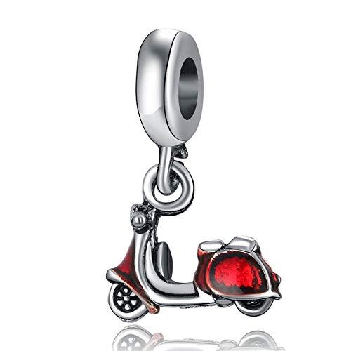 Pulsera Charms Abalorios Aleación De Cuentas Fit Lady Bracelet Bangle Celebration Scooter Dangle Charm Diy Jewelry Colgantes Finos Pulsera Fabricación De Joyas Niñas Adolescentes Diy