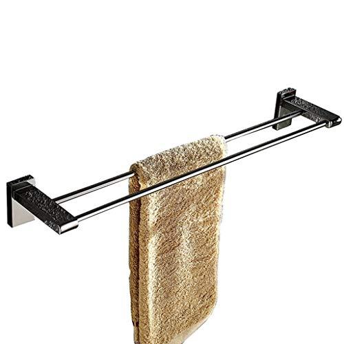 Handtuchschiene Doppel Tuch Bar, Edelstahl Badezimmer Handtuchhalter Badezimmer Handtuch Bar Badezimmer Zubehör Link HLSJ